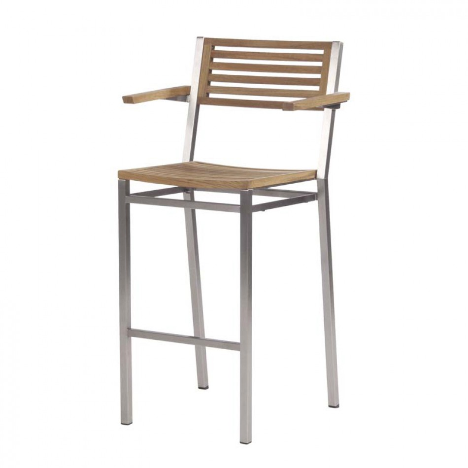 Bar chair with armrest equinox