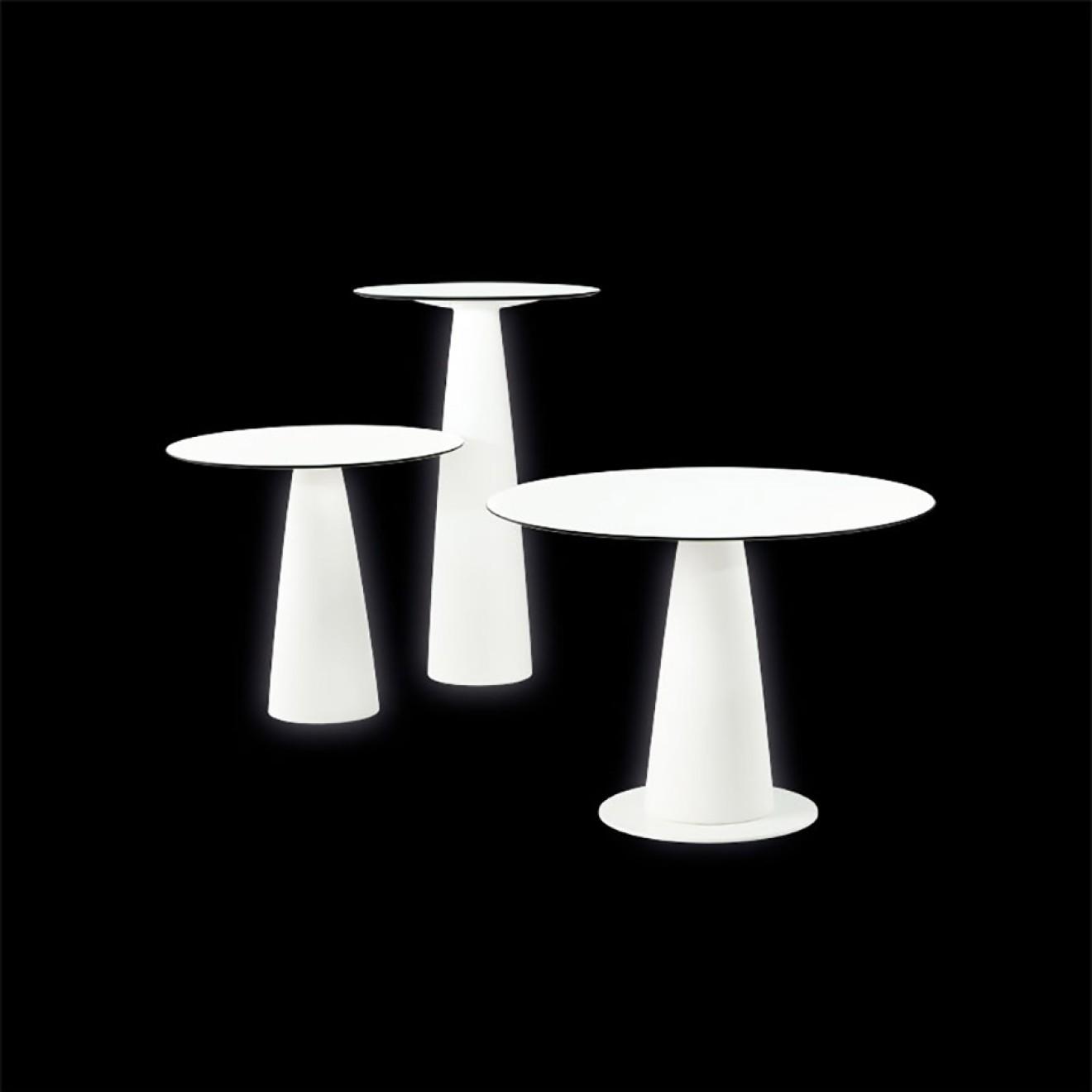 Slide design beleuchteter tisch hopl rund for Tisch rund danish design