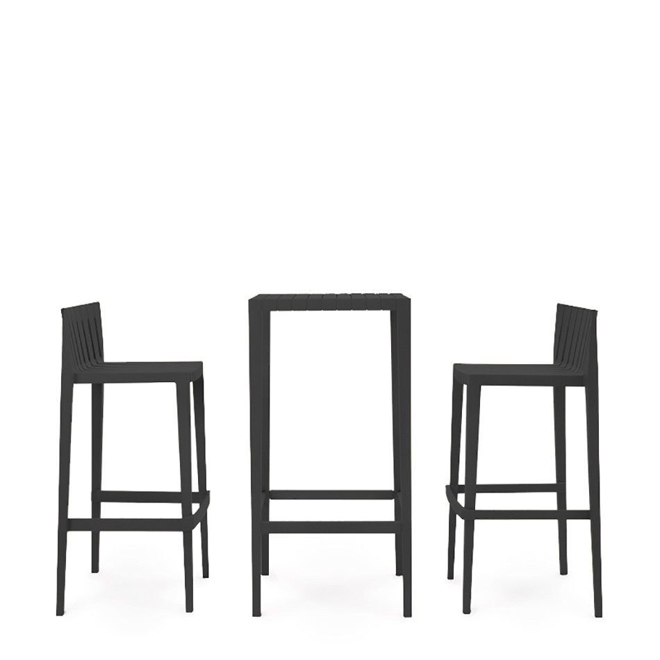Stand up table 2 bar stools spritz high