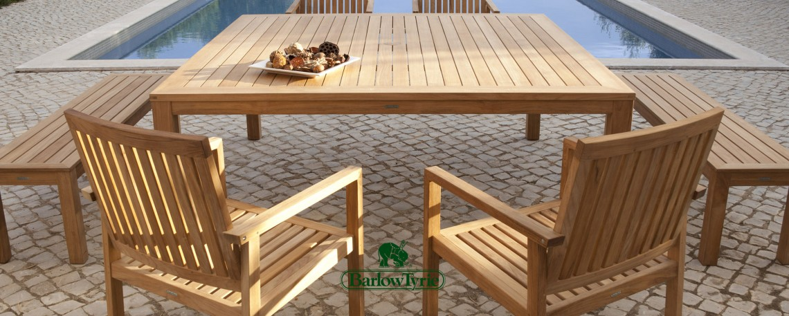 Barlow Tyrie Outdoor Furniture In Teak, Stainless Steel, Aluminium And Woven