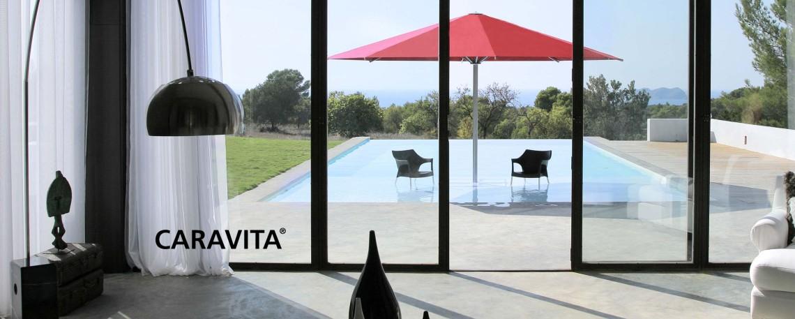 hochwertige sonnenschirme und sonnensegel von caravita zur. Black Bedroom Furniture Sets. Home Design Ideas